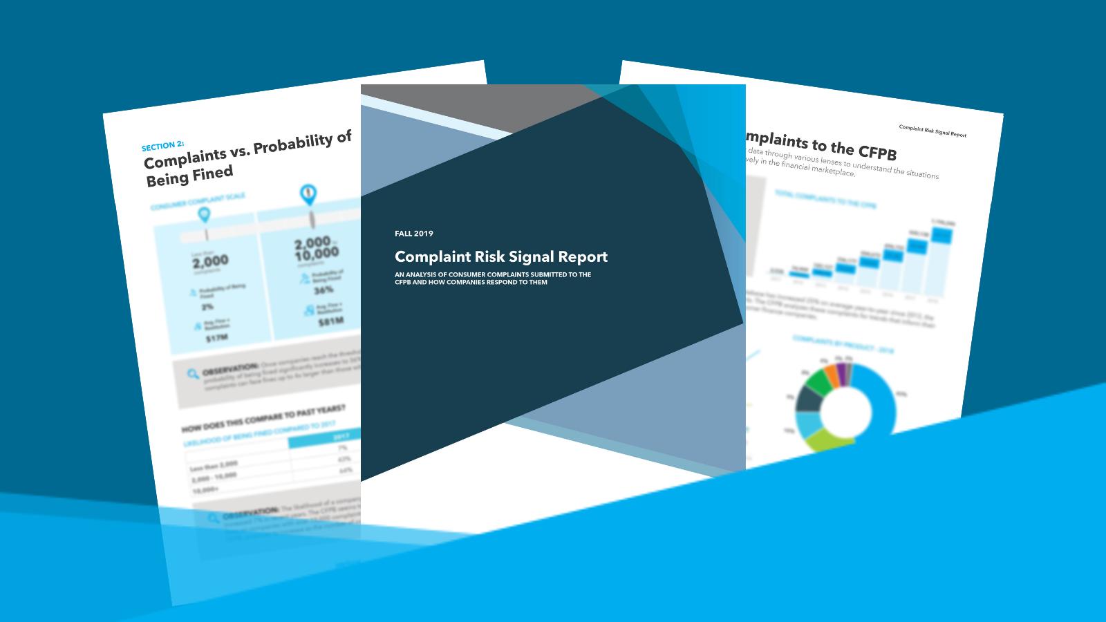 cfpb consumer complaint report
