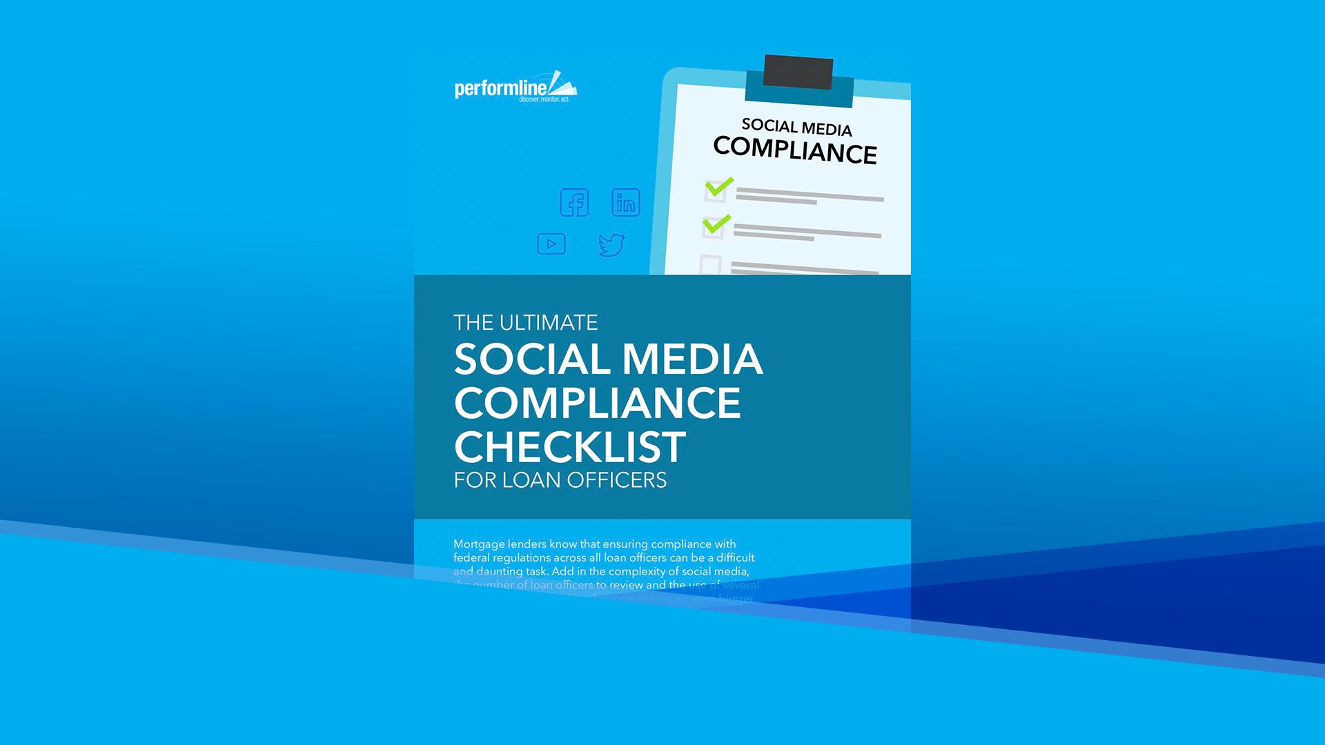 Social Media Compliance Checklist Image 1